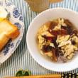 キクラゲと卵のスープで朝ごはん