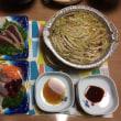 ヒラマサ、鰹のタタキ、豚肉と白菜の重ね煮