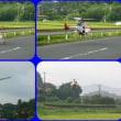 間近で撮影、小型ヘリ。
