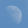 透き通るような月に安堵??