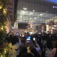 11月3日(金曜日)・たまプラーザ駅のクリスマスツリーの点灯式