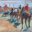 水彩模写「競馬場―アマチュア騎手たち」