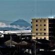 嵐後の「富士」の変化を観る