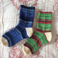 手編み靴下 作品NO.239
