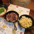 牛ステーキ~いきなり!ソース&キャベ玉&豆乳味噌うどん