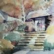 紅葉の浄智寺山門