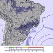 ブラジル降雨予想