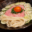 麺や庄の@市ヶ谷 驚愕のヴィジュアル系「和牛酢橘そば」を見よ!
