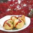 干し柿とワインとたこ焼き( ^)o(^ )