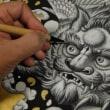 331. 絵画作品『獅子図』を制作する日々。