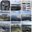 千葉ポートタワーから見る千葉市内。大きな船は自動車運搬船です。中古自動車が外国にたくさん輸出されます。