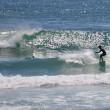 日南海岸では一年中サーフィンを楽しむ人がいます。 (Photo No.14301)