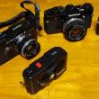 ◎米谷美久氏設計のカメラ達を集める。OM-1、OM-2N、PENーFT、XA