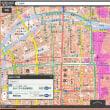 大阪府の各市町村の津波避難用の色別の標高地図。ゼロ~5~10~20~30~40メートル、40メートル以上の6段階の標高の範囲の地図