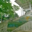 外階段の掃き掃除 ~展望台清掃実習~