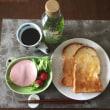8/13(日)朝食(食パン、サラダ、コーヒー)