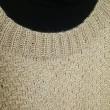 模様編みの黄色セーター