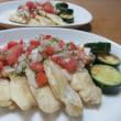 チキンソテーの野菜ソース