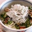 シラス丼&豚肉のソテー