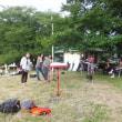 高麗川の土手で遊んでみました。