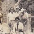 鴨川ダムの堰堤で-昭和29年