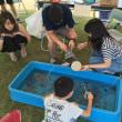 福井市中央公園完成式典。九条の会宣伝署名。夏まつり