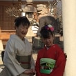 30.12.2 孫の十三詣りの後撮り、親子4代 私と母と娘の着付け、孫はスタッフさんです。
