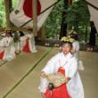 蘭宇氣白神社で浦安の舞奉納