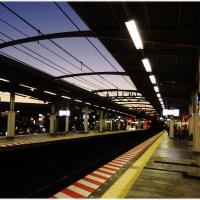 最寄り駅の夕景