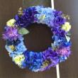 100均 紫陽花リース