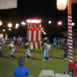 山国観音堂の広場で新盆供養の盆踊りと花火
