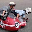 旧い車とバイクのレース観戦