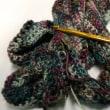 マフラーを編む その1 モバイル編み物