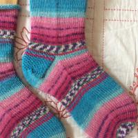 手編み靴下 作品NO.169