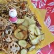 「汐吹き昆布ささめ」と根菜の揚げ物