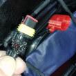 バッテリー補充電用コネクタのキャップ