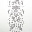龍体文字に触発されて(身体の上に置く図形)