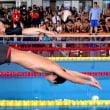 目標タイムへ力泳 リオ木村選手も、滋賀で障害者記録会