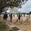 豊見城高校女子サッカー部と合同練習