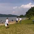 本日は水着男子の撮影で琵琶湖の宮ヶ浜水泳場へ。30年ぶりに行きました。遠浅で環境省の水質検査ではAAとなっていますが水が汚く感じました。
