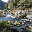 雄川の滝 遊歩道、途中にある美しい川