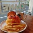 鶴という名のお店で餃子と天津のバーガー