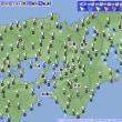 9月21日 アメダスと天気図。