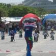 チャリンコ(自転車)の妙技!子供も大人も楽しそうに競技しています!ばんざ~い!