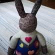 ウサギの編みぐるみ