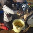 農業実践教室第23期:収穫祭番外編その2~11月に仕込んだ沢庵を取り出しました!
