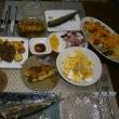 秋さんまとステーキ、パスタのチーズ焼きで週末晩ご飯(越後桜🍶)