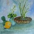 油絵「ドール・ワールド」完成と「春を恋う鳥たち」製作中