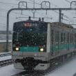2018年1月22日 小田急 千歳船橋 E233系10編成 雪
