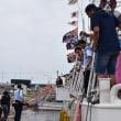 イカ釣り船団出港式